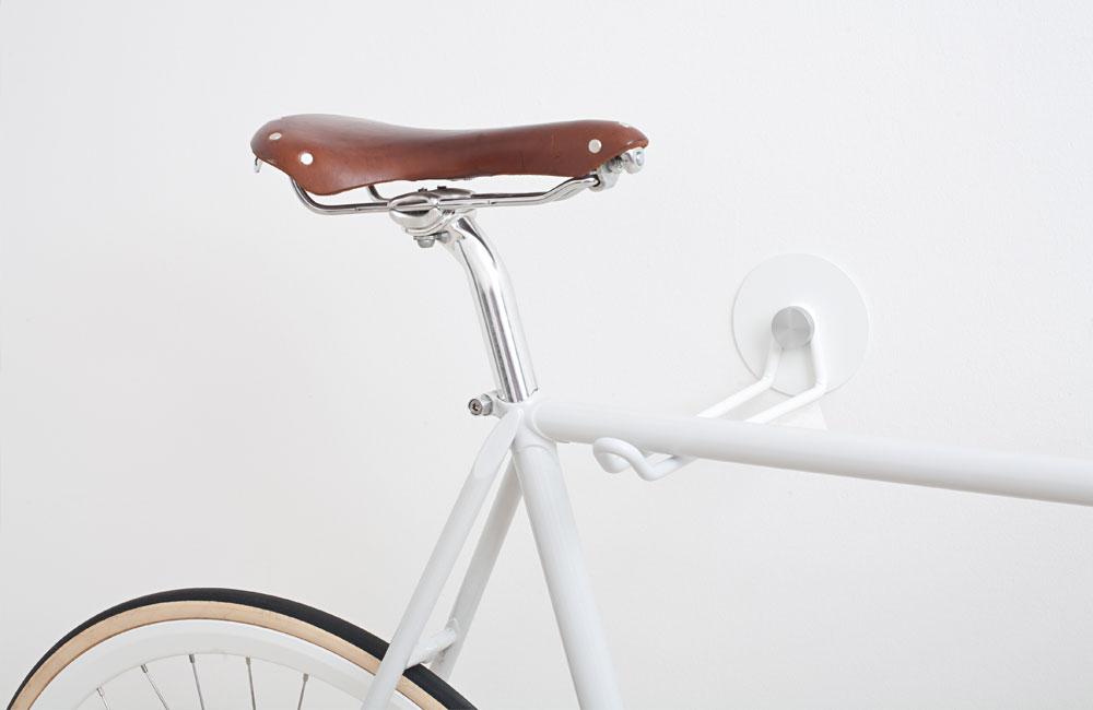 HOOKS: Handmade bicycle wall mount