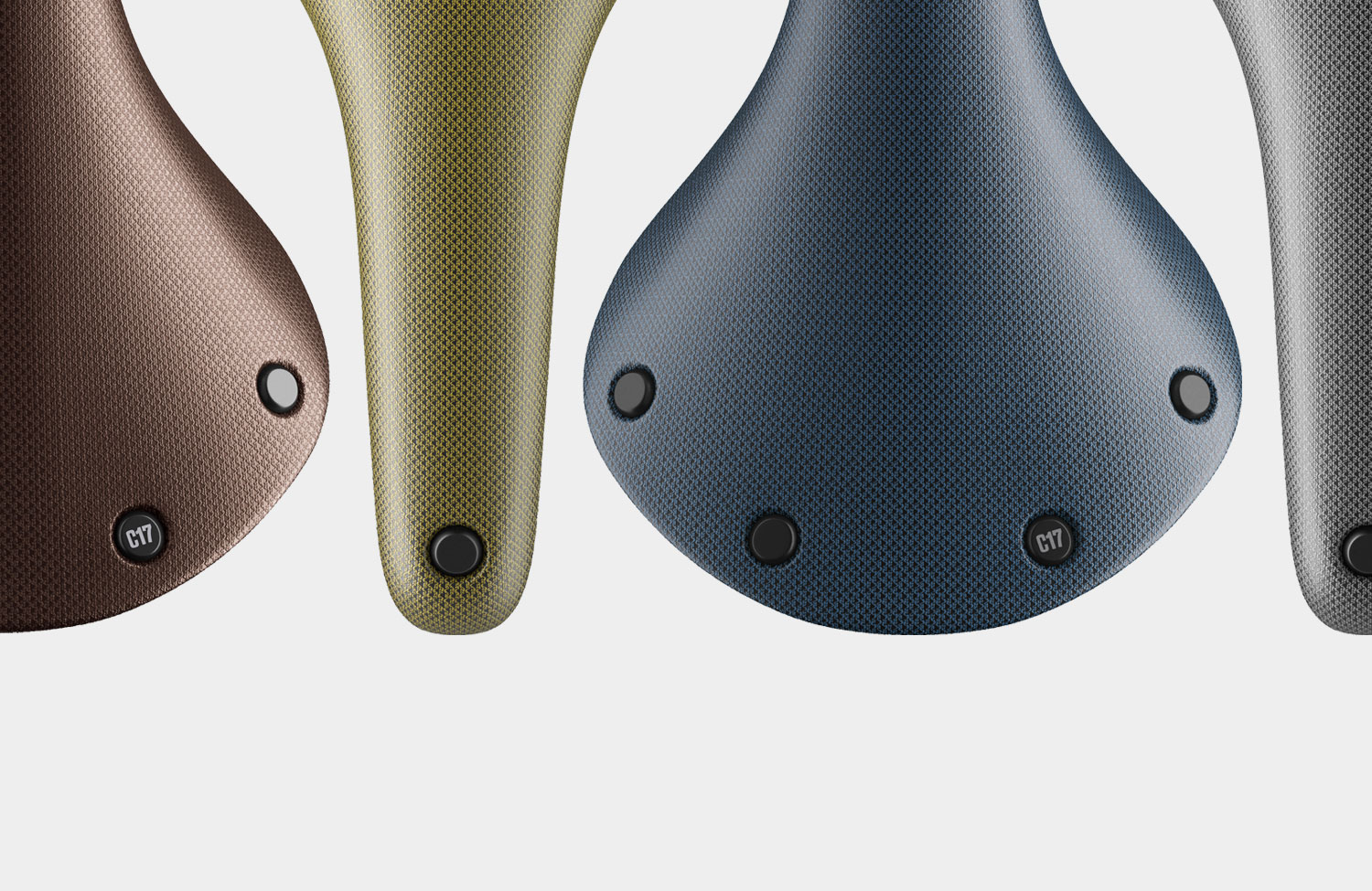Four new colors for the C17 saddle from Brooks England