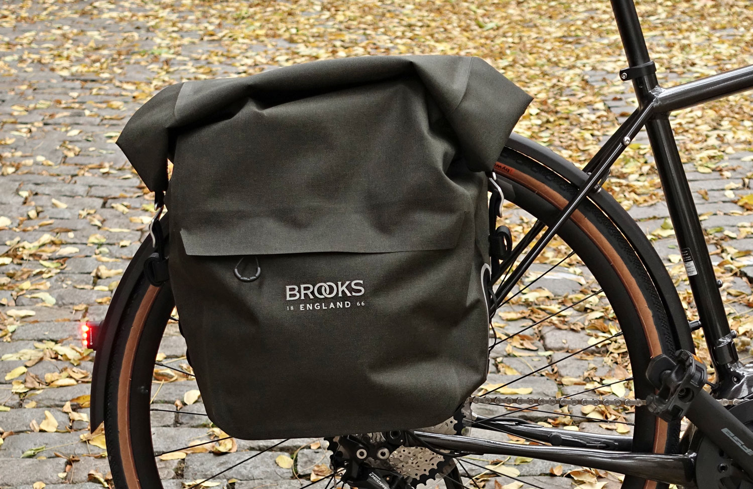 In the check: the new Scape Pannier from Brooks