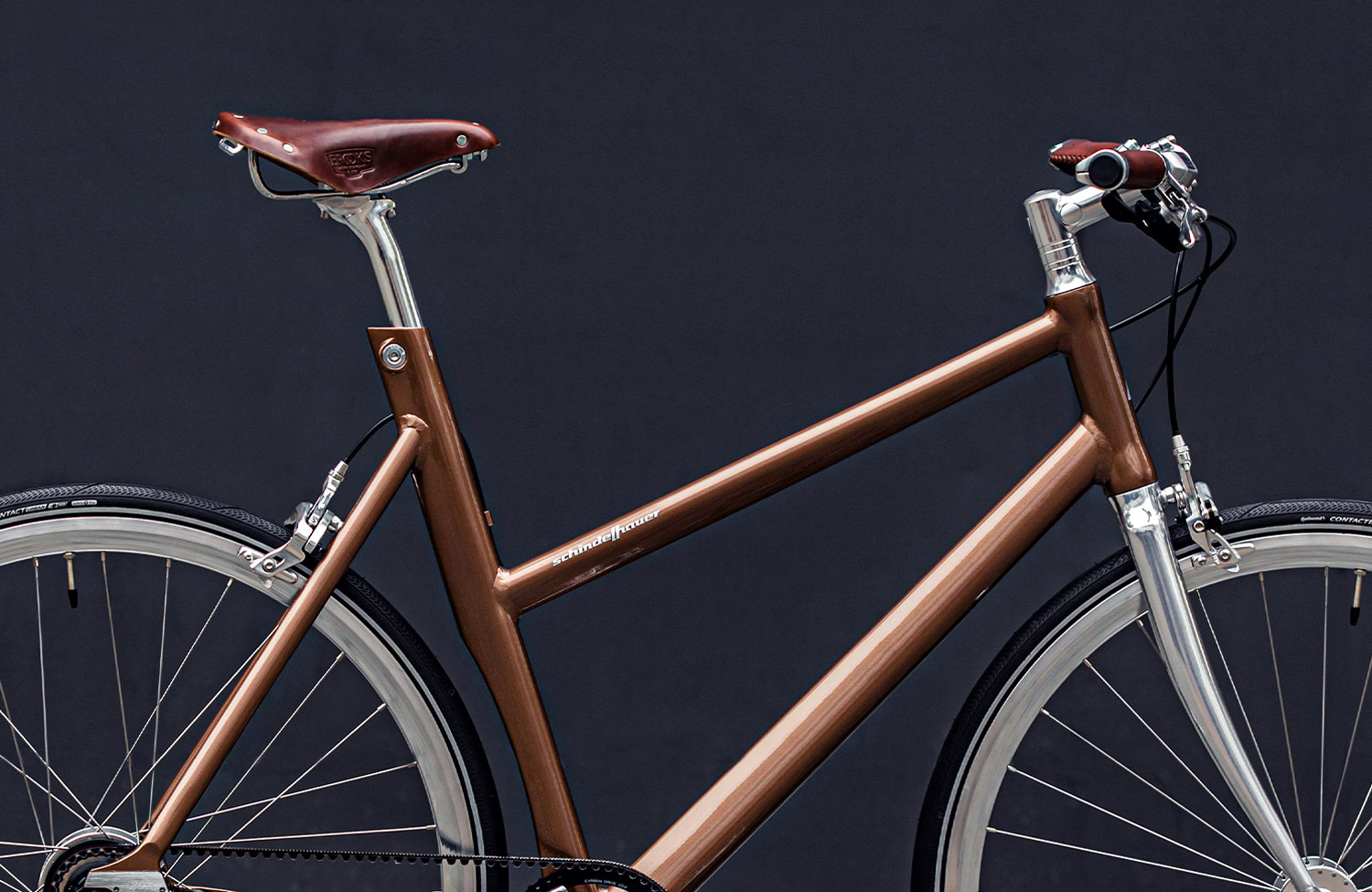 In a limited colorway: Schindelhauer Bikes' Nougat Edition